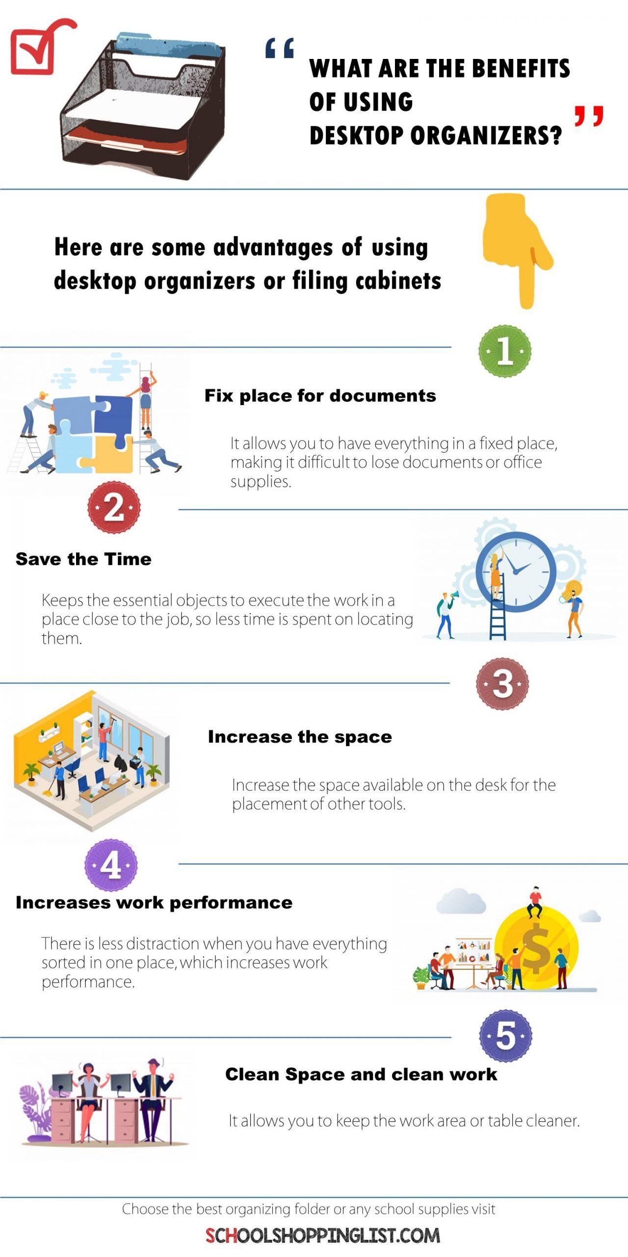 benefits of using desktop organizers