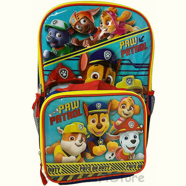 02. Paw Patrol Backpack - 2 Piece Set for Kids