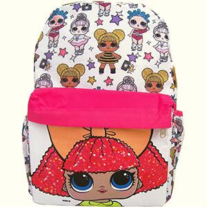 LOL Surprise White School Backpack