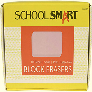School Smart Latex Free Block Eraser