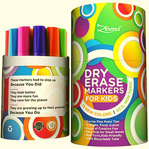ZenZoi Dry Erase Markers For Kids