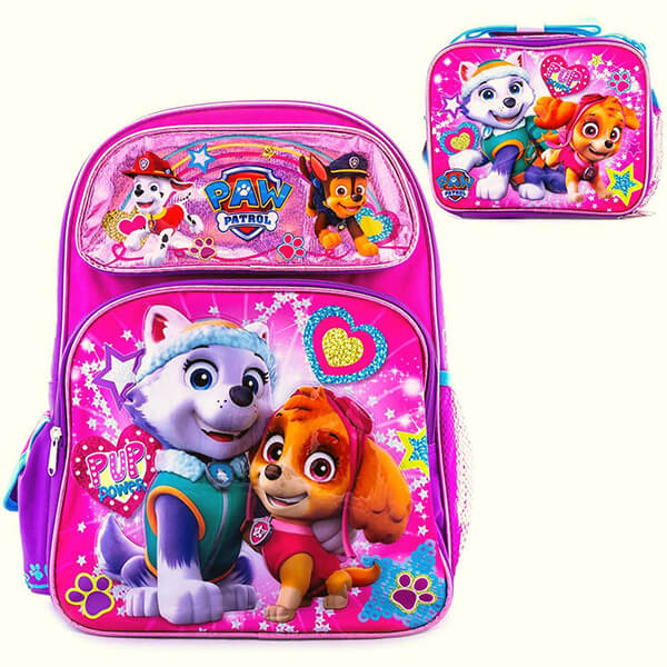 Paw Patrol Girls Backpack and Lunch Box