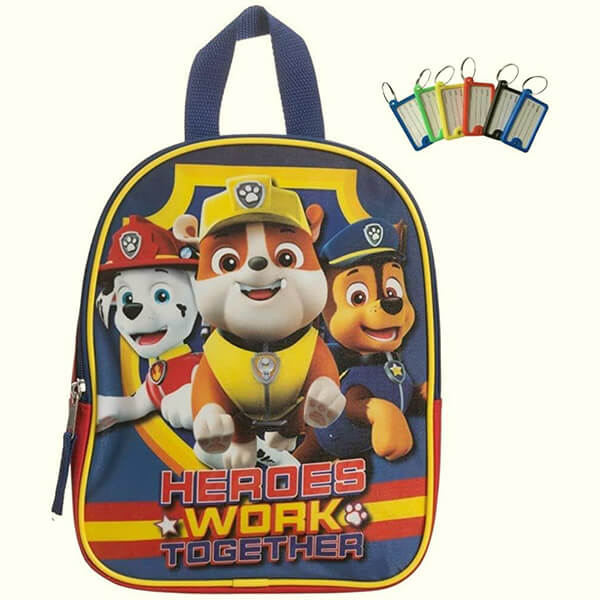Paw Patrol Preschool Mini Backpack With Name Tag