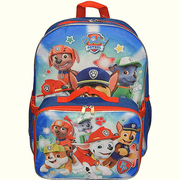 Nickelodeon Paw Patrol Large School Backpack With Lunch Box