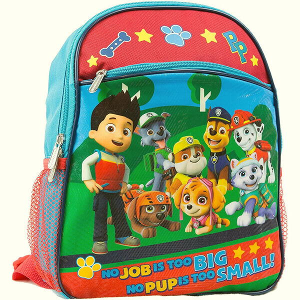 Paw Patrol Toddler Backpack With 8 Paw Patrol Characters