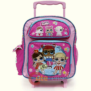 LOL Surprise Small School Rolling Backpack