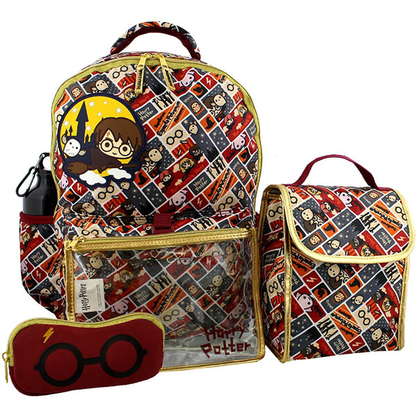 Harry Potter 5 Piece Backpack and Snack Bag