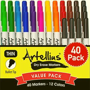 Artellius Fine Point Dry Eraser Marker