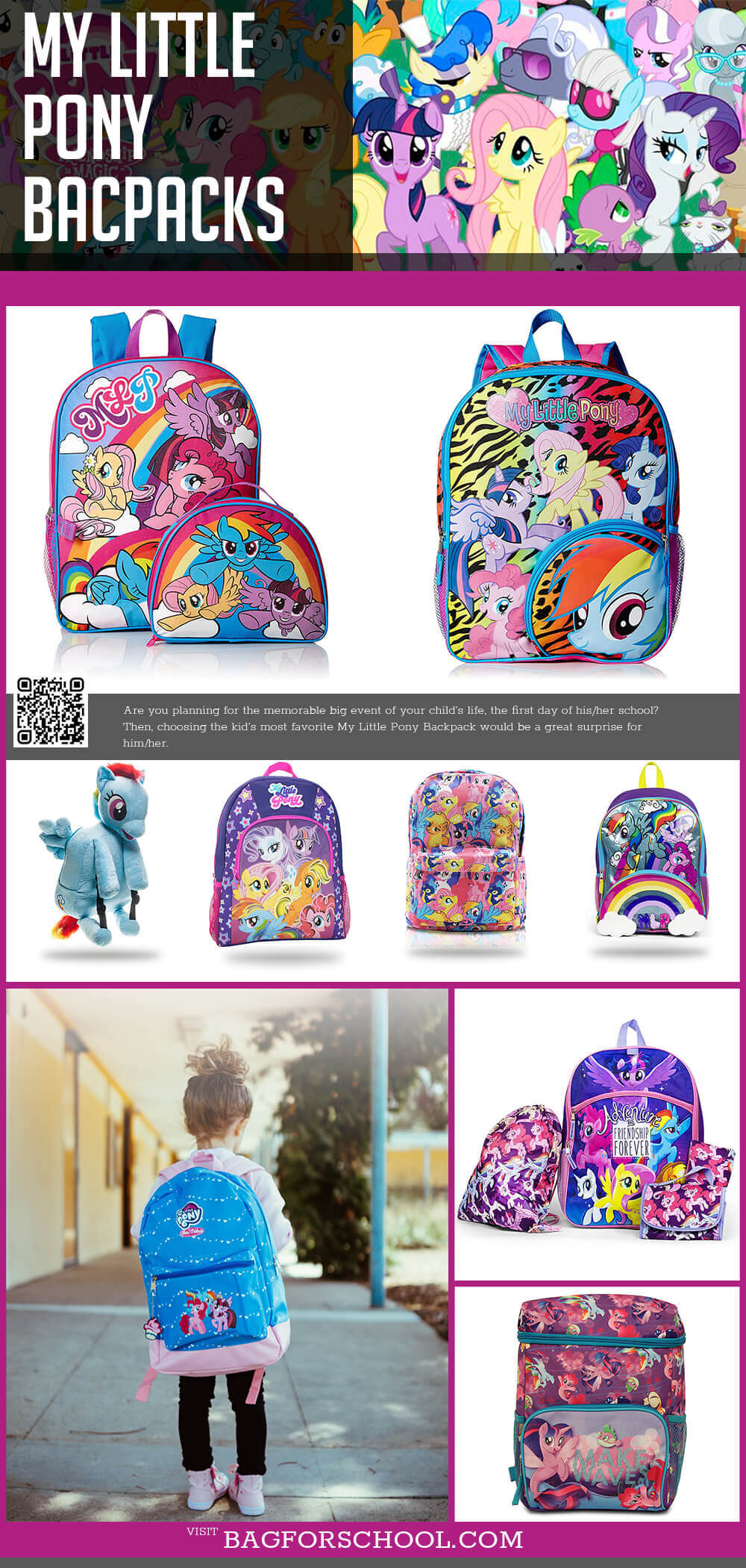 My Little Pony Backpacks