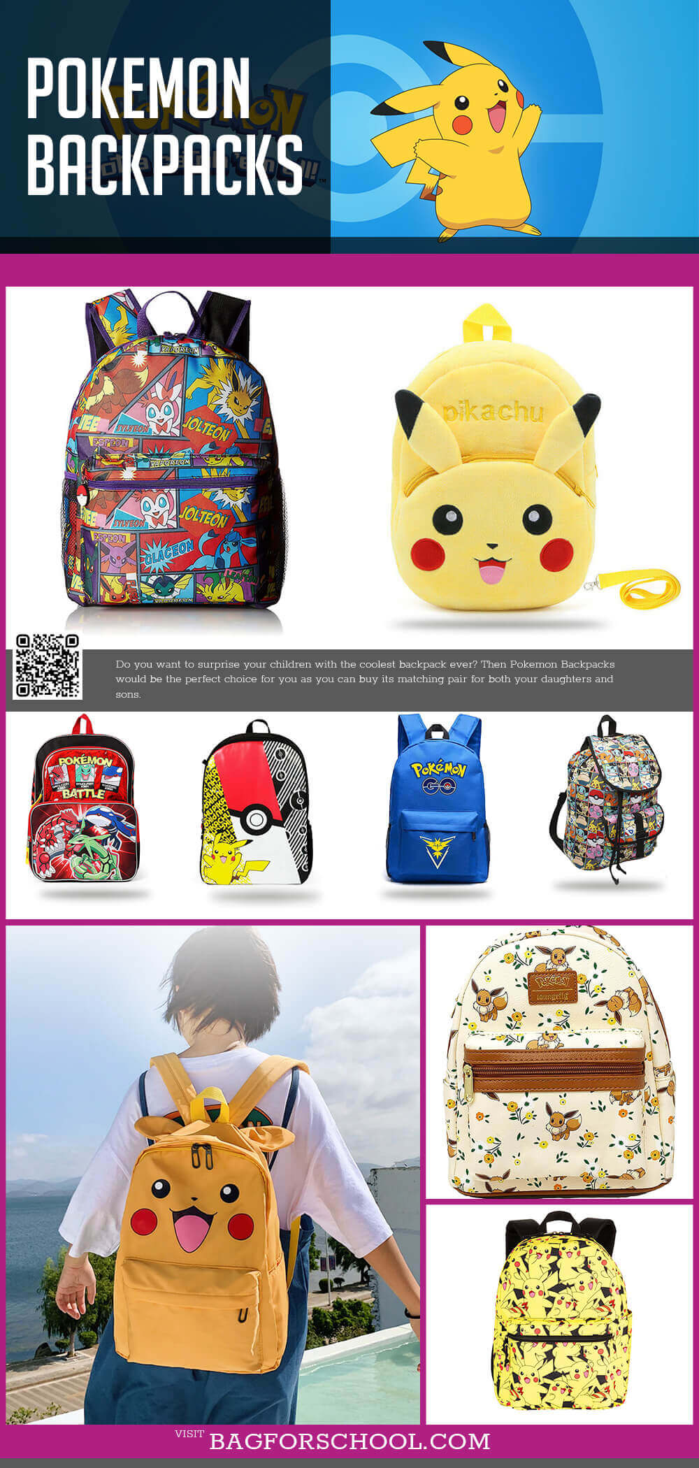 Pokemon Backpacks