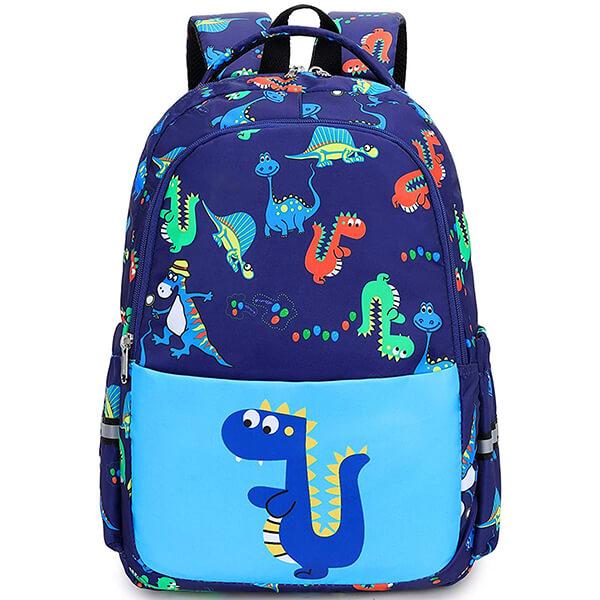 Blue-Dino Dinosaur Backpack for School