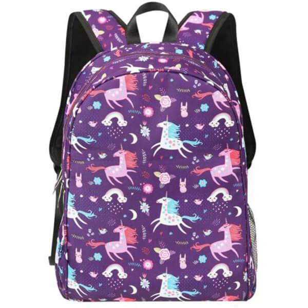 Flower Moon Unicorn Backpack for School