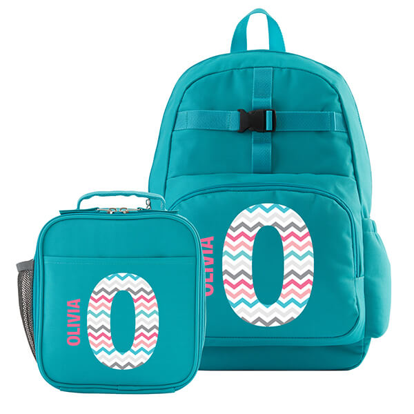 Personalized Rainbow Name Backpack with Lunchbox