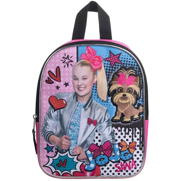Jojo Siwa and Plush Dog Mini Bookbag