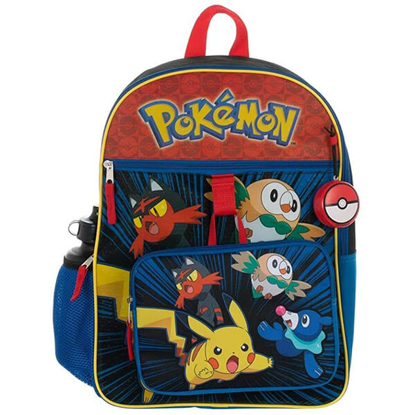Litten Pikachu Backpack and Lunchbox