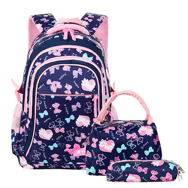Bowknot Love Backpack and Lunchbox Set