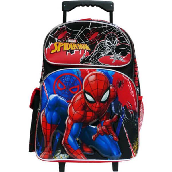 Spiderman Kids Rolling Backpack