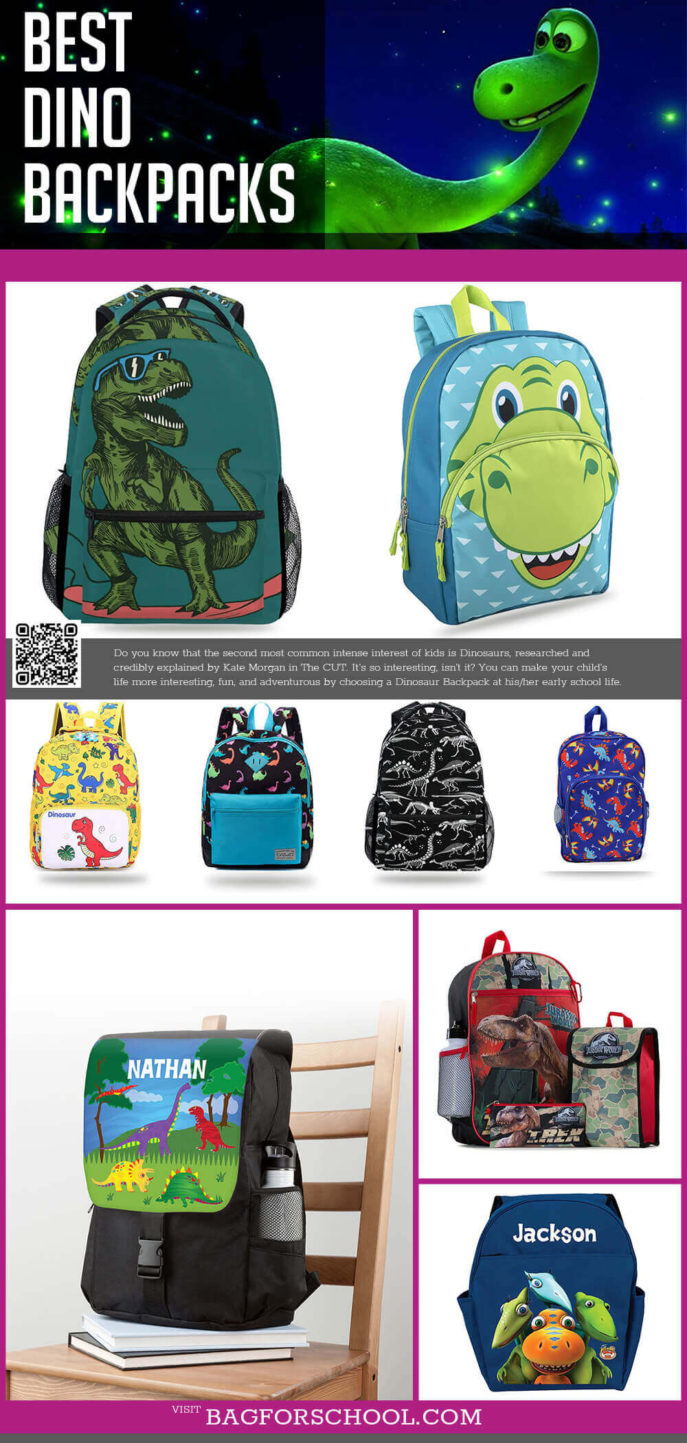 Dinosaur Backpacks