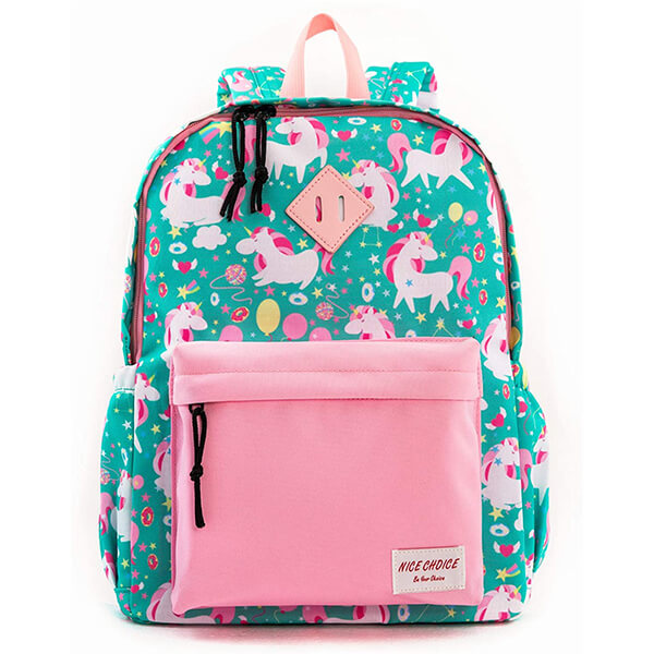 Colorful Balloons Unicorn Backpack for School