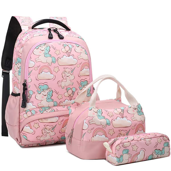 Unicorn in Clouds Backpack and Lunchbox Set