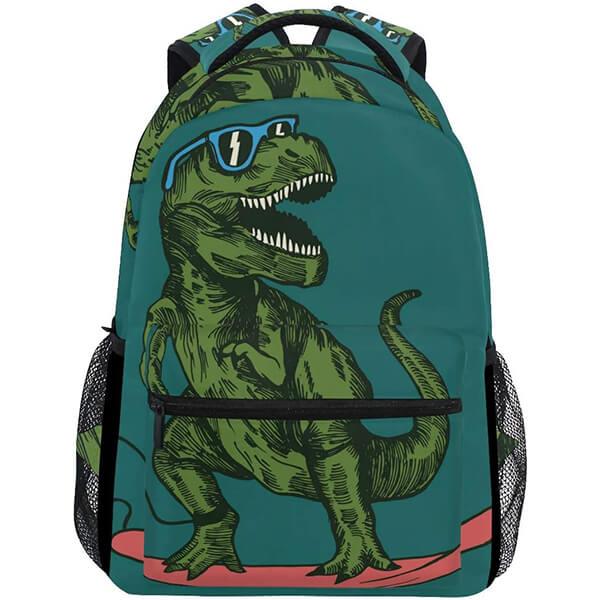 Cool Skateboarding Dinosaur Backpack