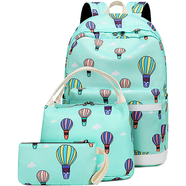 Hot Air Balloon Backpack and Lunchbox Set