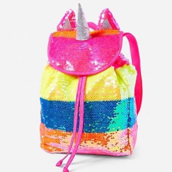 Sequin Rainbow Unicorn Mini Backpack