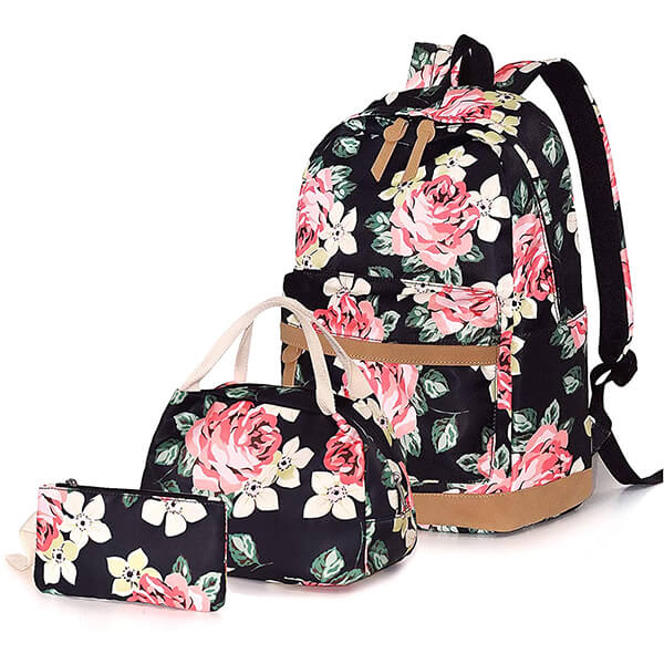 Flower Roses Backpack and Lunchbox
