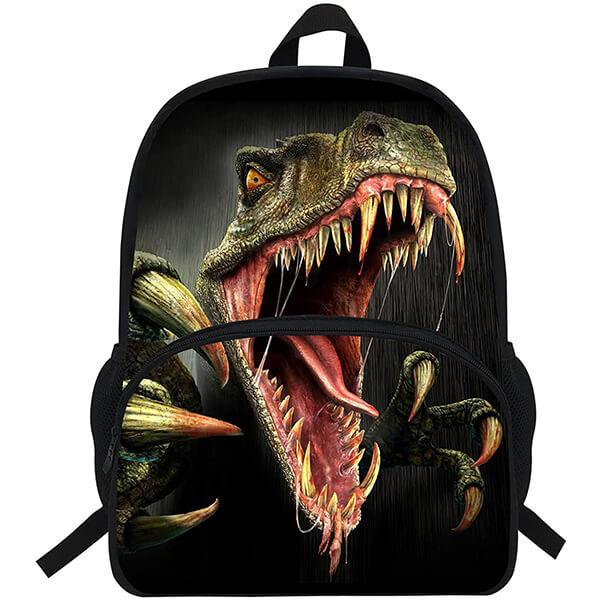 Great Velociraptor Dinosaur Shouting Pattern Backpack