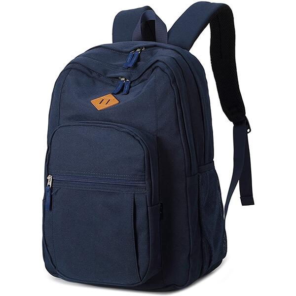 Multi-Pocket Navy Blue Long Lasting Backpack