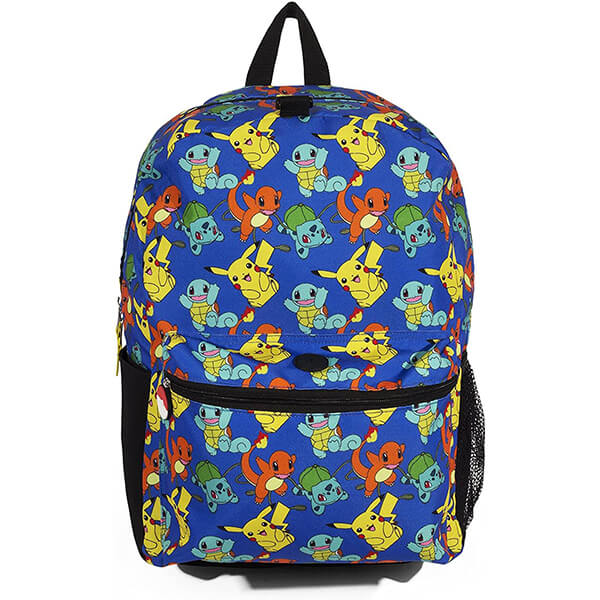 Pokemon Checkered Blue Backpack