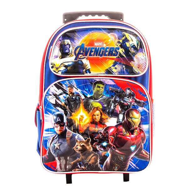 Super Hero End Game Marvel Avengers Rolling Backpack