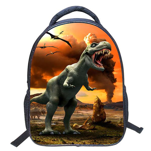 Tyrannosaurus Rex Dinosaur Drawing Animal Kids School Backpack