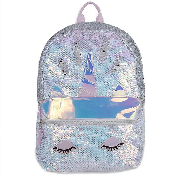 Glittery Eye Sequin Unicorn Book Bag
