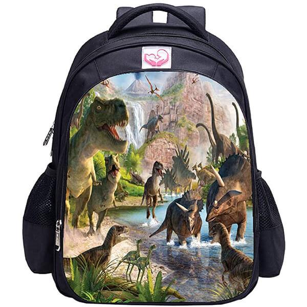 Vivid 3D Dinosaur Printed Backpack