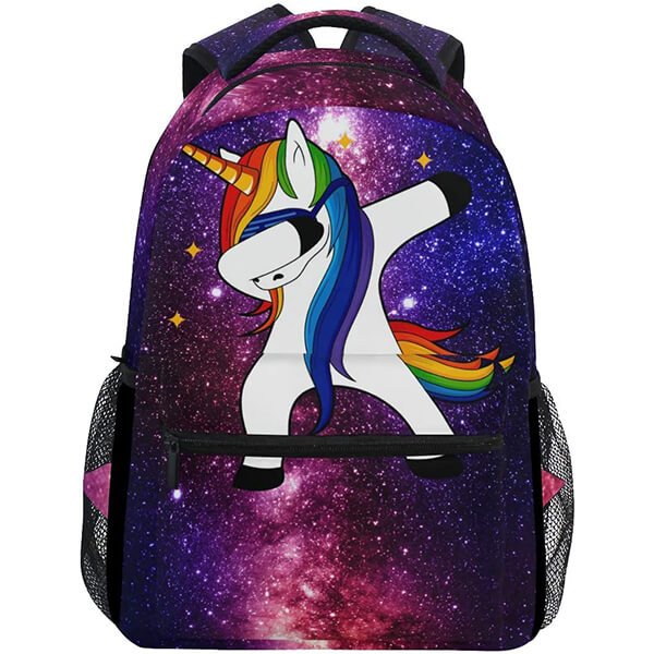 Space Galaxy Unicorn Backpack for School