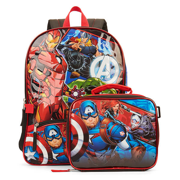Iron Man Avengers Backpack and Lunchbox