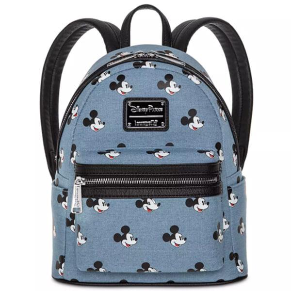 Mickey Mouse Denim Mini Backpack