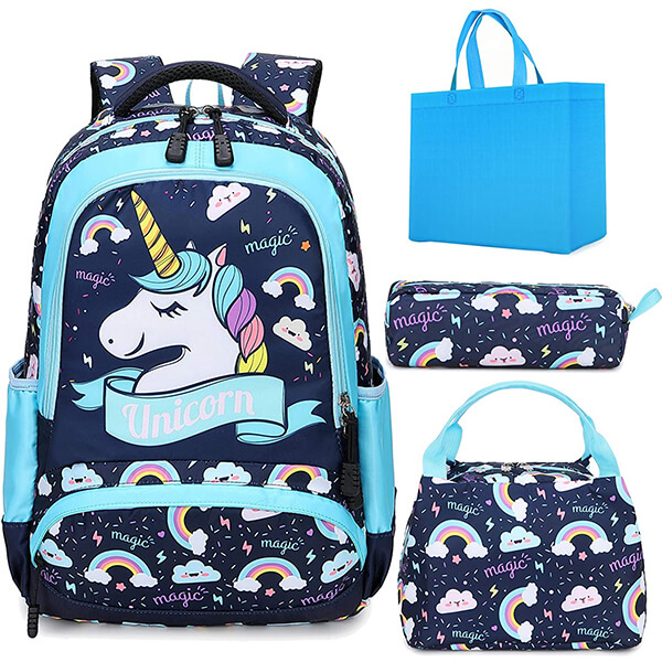 Magic Unicorn Everywhere Backpack with Lunch Bag and Pencil Case