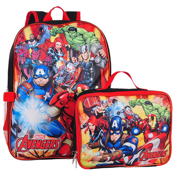 Marvel Squad Avengers Infinity War Backpack and Lunchbox