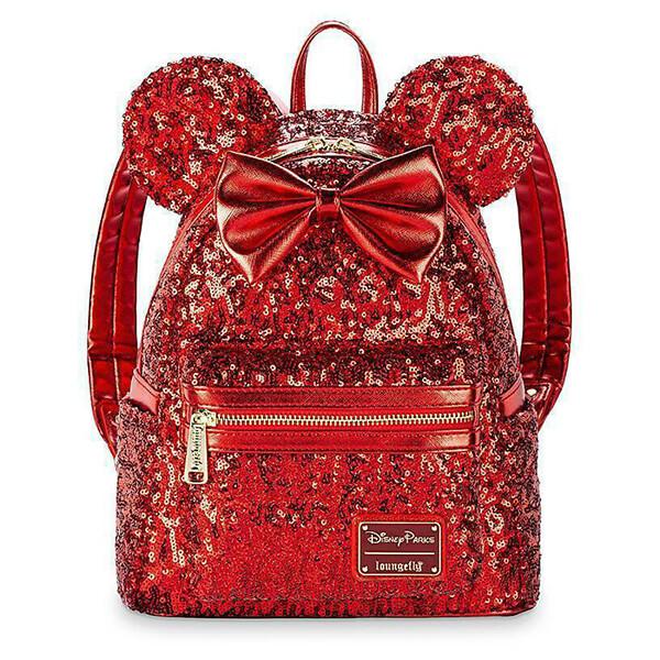 Minnie Mouse Denim Polka Dot Mini Backpack