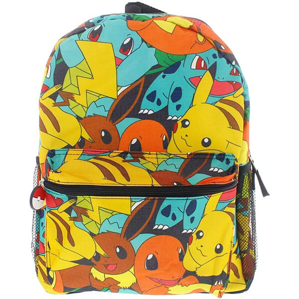 Squirtle, Eevee, and More Printed Pokemon Canvas Backpack