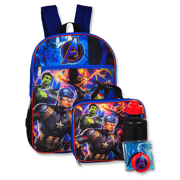 Battle Combat Avengers Backpack and Lunchbox