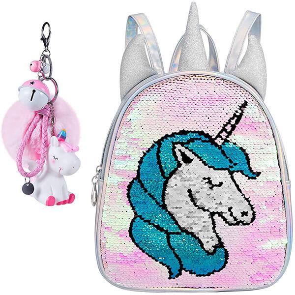 Holographic Mermaid Unicorn Book Bag