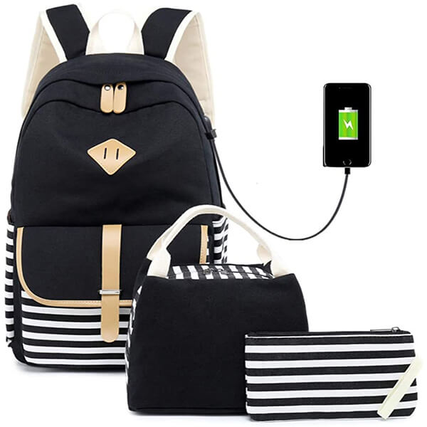 Versatile Lightweight Girl Backpacks with Lunch Box