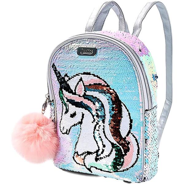 Gorgeous Sequin Hair Unicorn Book Bag