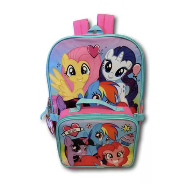 Lovely My Little Pony Backpack and Lunch-box