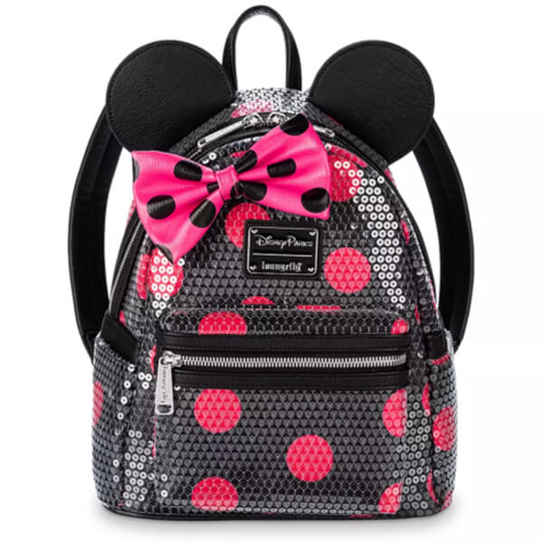 Polka Dot Minnie Mouse Sequined Disney Mini Backpack