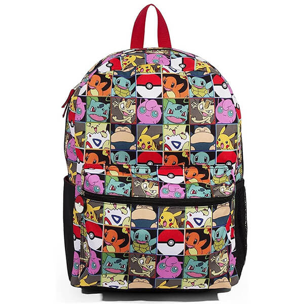 Checkered Multi Character Eevee Pokemon Backpack