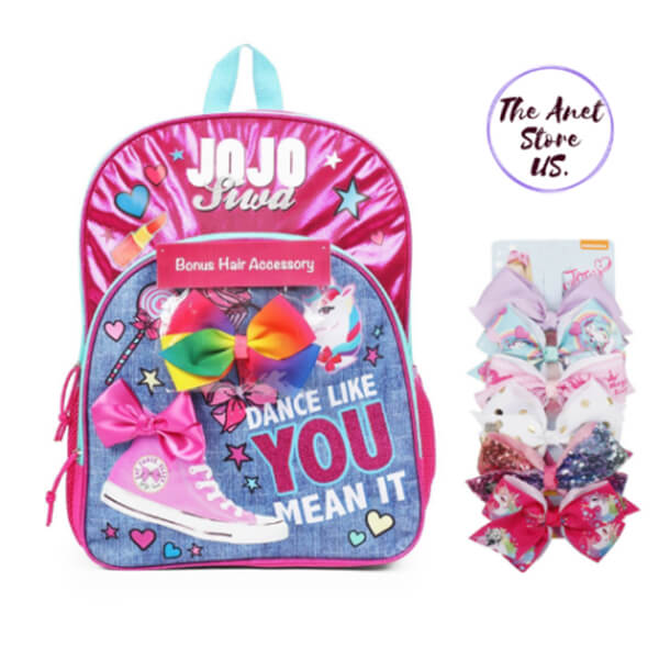 Jojo Siwa Signature Bow Backpack with Gift Hair-Bow